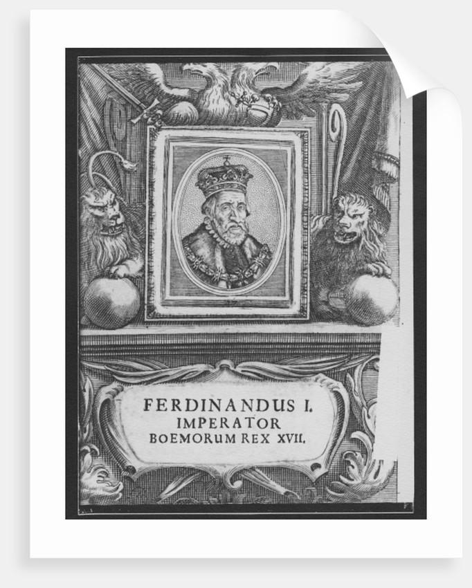 Emperor Ferdinand I, King of Bohemia by German School