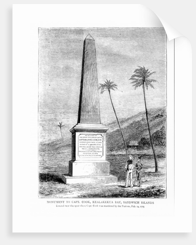 Monument to Captain James Cook, Kealakekua Bay, Sandwich Islands by English School
