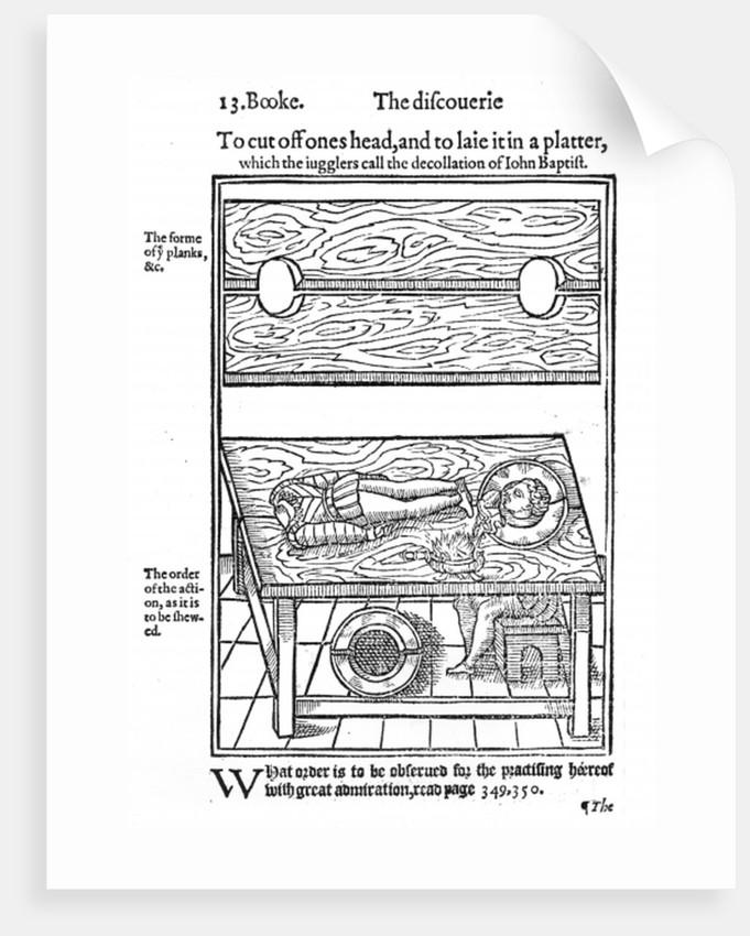 How to Cut Off One's Head, and To Lay it on a Platter by English School