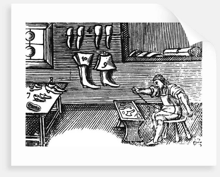 The Shoemaker by English School