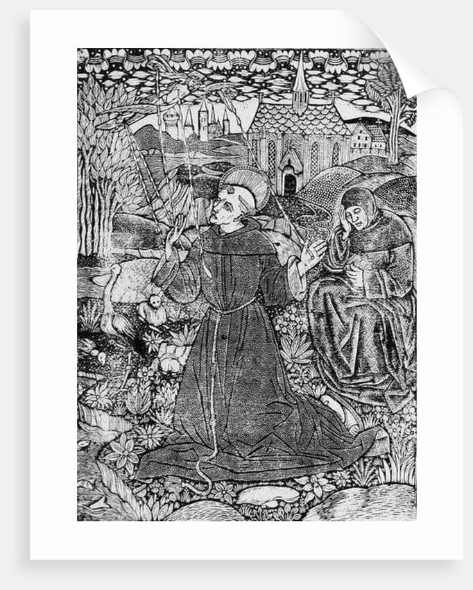 St. Francis Receiving the Stigmata by English School