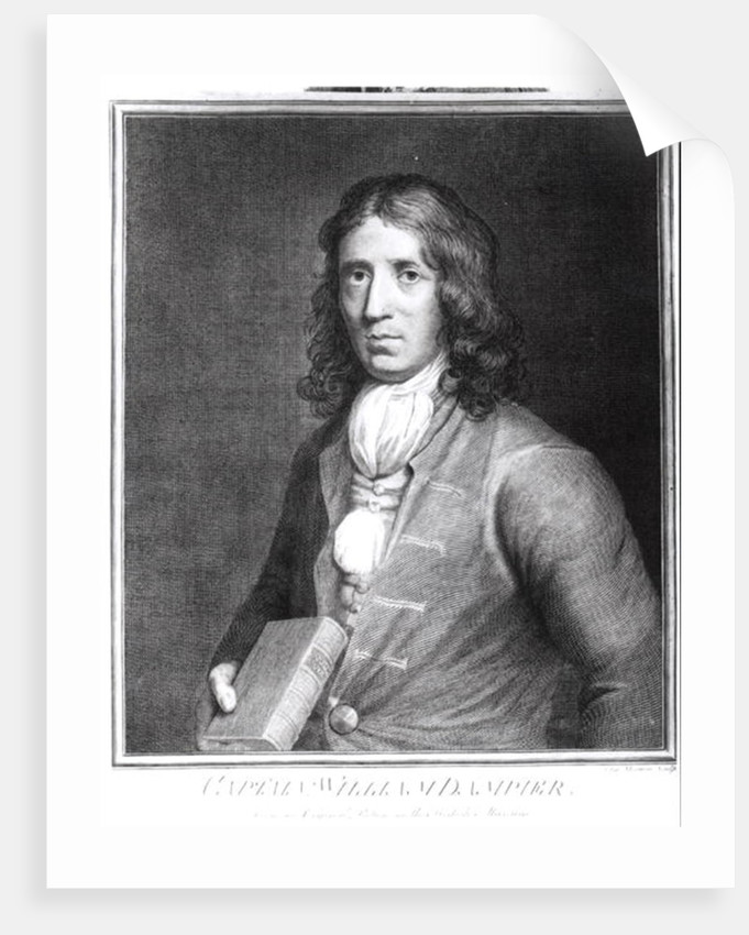 Portrait of Captain William Dampier engraved by Sherwin by English School