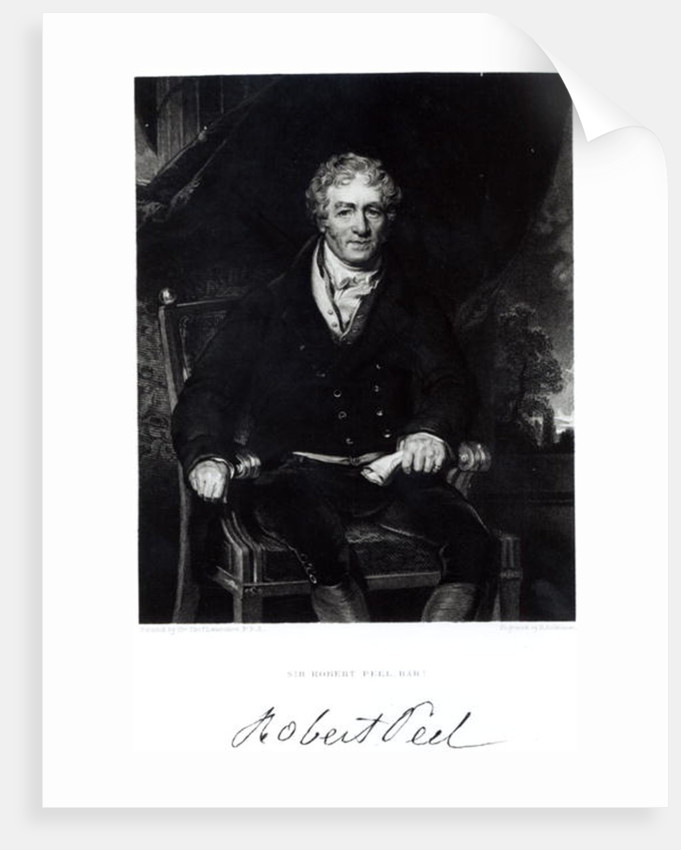 Portrait of Sir Robert Peel by Sir Thomas Lawrence