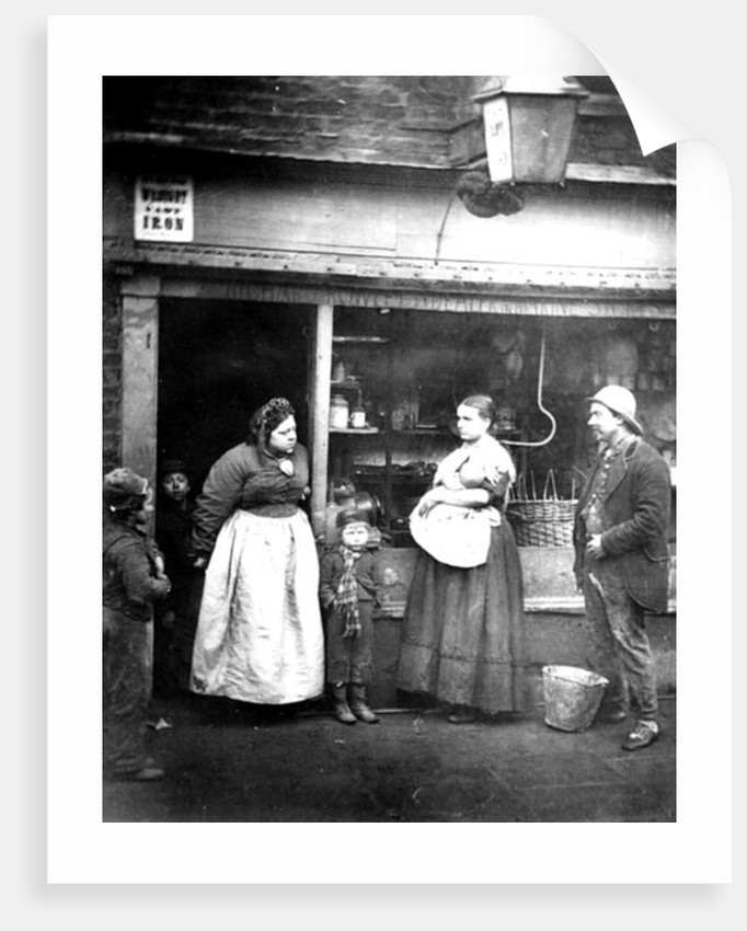 Street scene in Victorian London by English Photographer