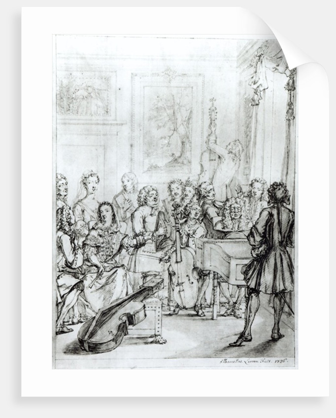 Concert at Montague House by Marcellus the Younger Laroon