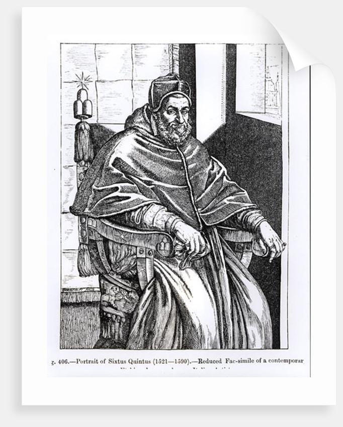 Portrait of Pope Sixtus V by Italian School