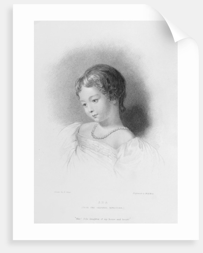 Portrait of Augusta Ada Byron by Frank Stone