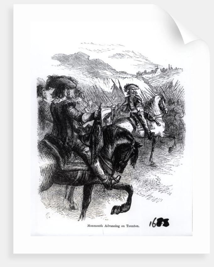 Duke of Monmouth Advancing on Taunton by English School