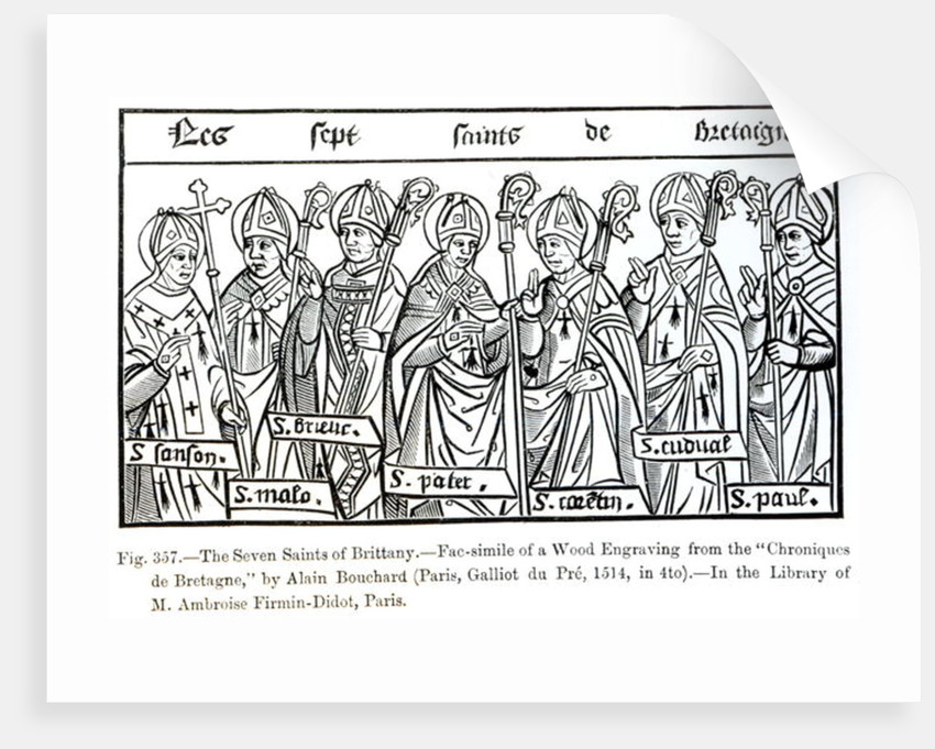 The Seven Saints of Brittany by illustration from 'Science and Literature in the Middle Ages and Renaissance'