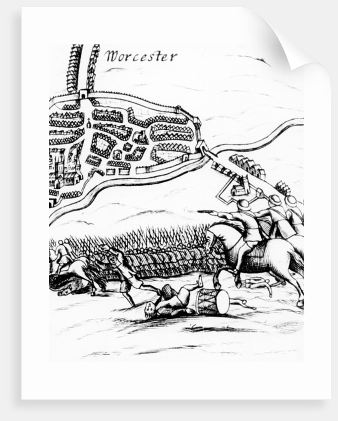 The Battle of Worcester on 3rd September 1651 by English School