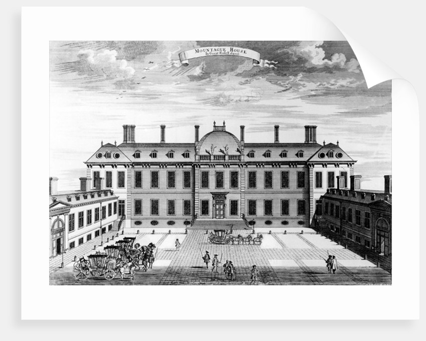 Montague House, Great Russell Street by English School