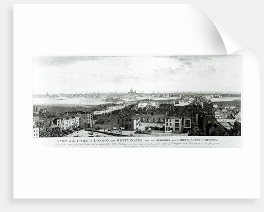 A View of the Cities of London and Westminster with Suburbs and Circumjacent Country by English School
