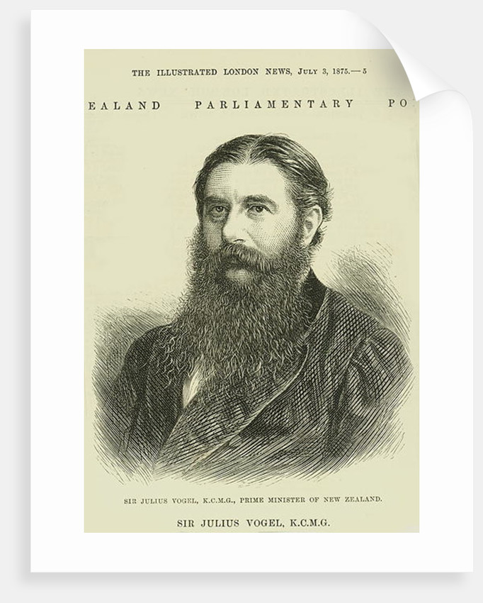 Sir Julius Vogel, KCMG from 'The Illustrated London News' by English School