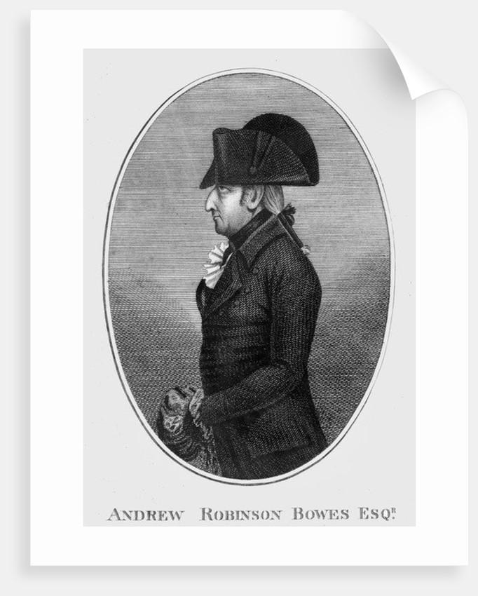 Andrew Robinson Bowes (born Stoney) by English School
