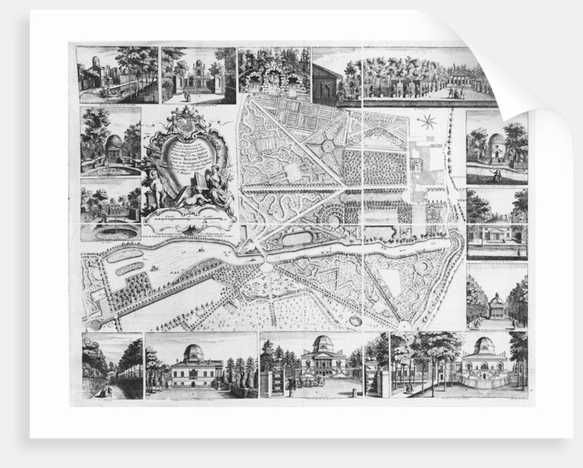 Chiswick House from plan of Chiswick by John Rocque