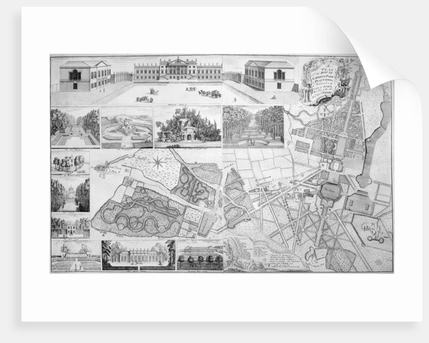 A Plan of the House, Gardens, Park, and Plantations of Wanstead, the Seat of the Earl of Tylney by John Rocque
