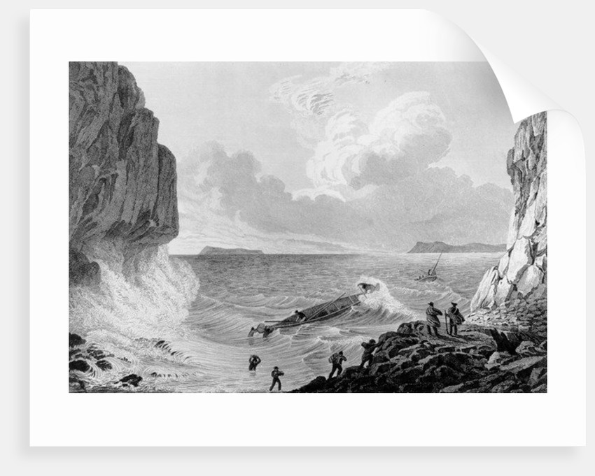 Franklin's expedition landing in a storm by George Back