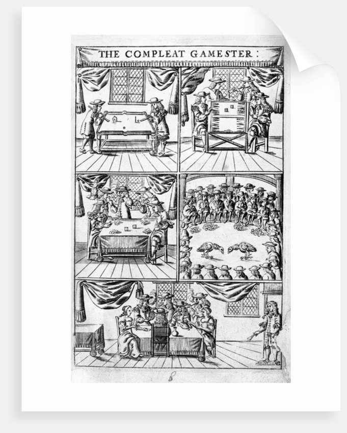 Frontispiece illustration to 'The Compleat Gamester' by Charles Cotton by English School