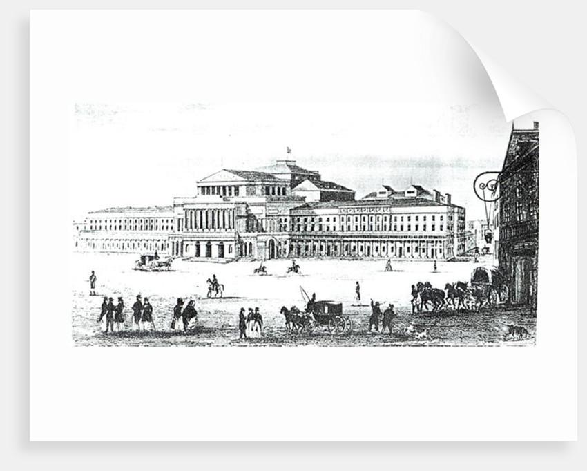 View of the Grand Theatre, Warsaw by Antonio Corazzi