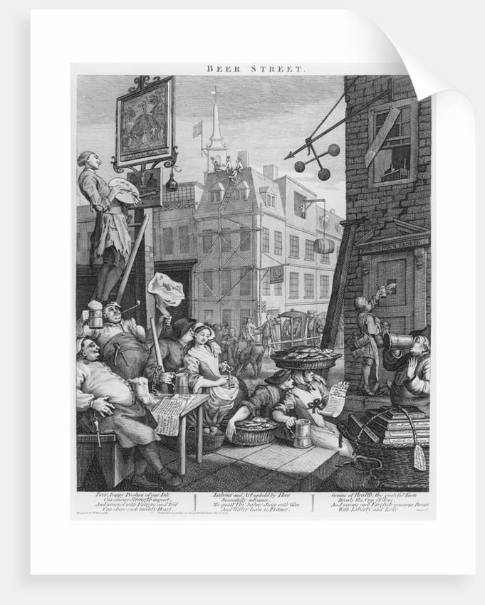 "/""Beer Street/"" Framed print by William Hogarth"