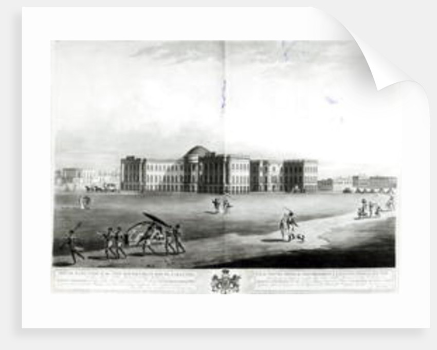 South East View of the New Government House, Calcutta by James Moffat
