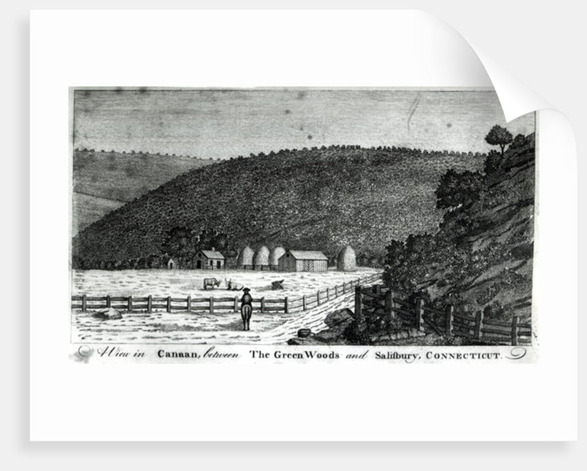 A Farm in Canaan, Connecticut by American School