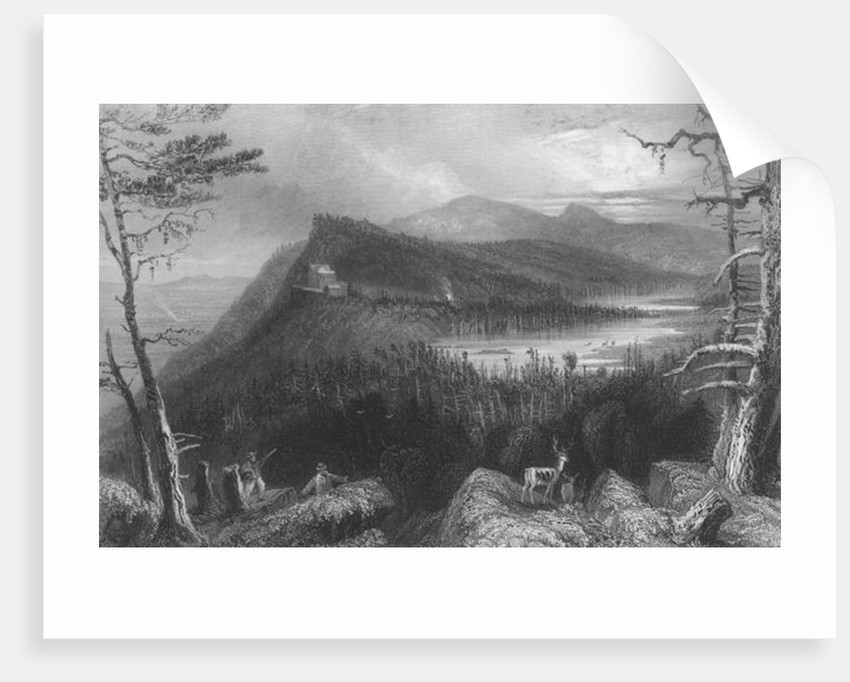 The Two Lakes and the Mountain House on the Catskills by William Henry Bartlett