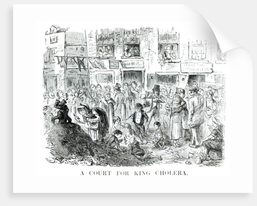 A Court for King Cholera by English School