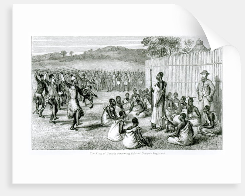 The King of Uganda Reviewing Colonel Congo's Regiment by English School