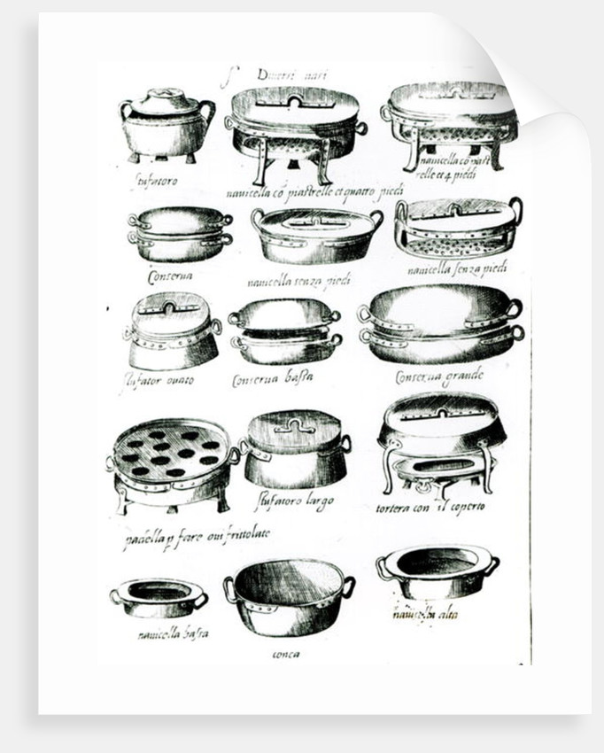 Various Cooking Vessels by Italian School