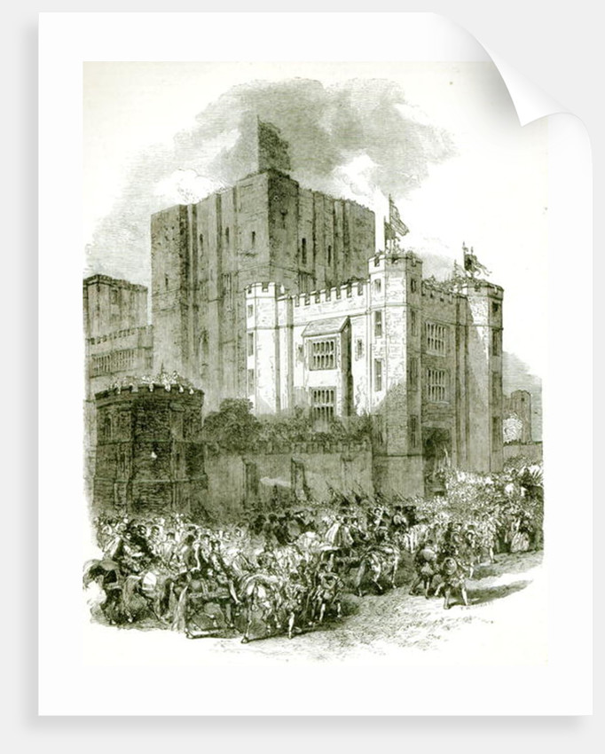 Reception of Queen Elizabeth at Kenilworth Castle by English School