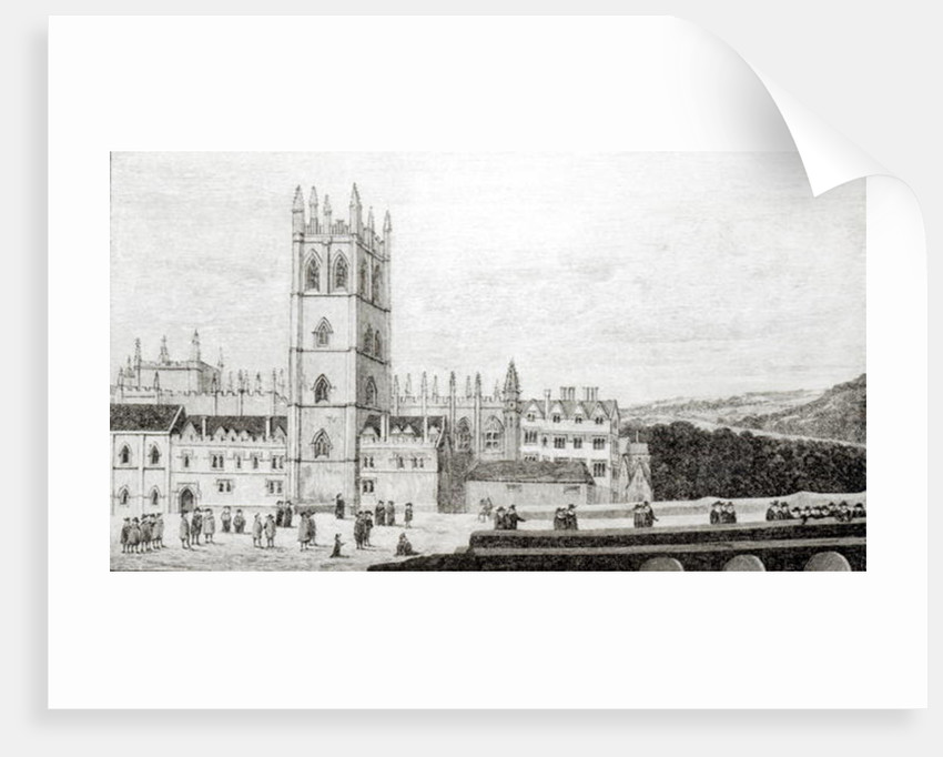 Magdalen College, Oxford in the 17th century by English School