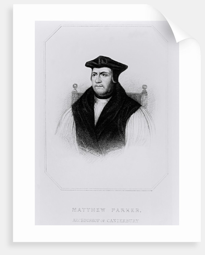 Portrait of Matthew Parker from 'Lodge's British Portraits' by English School