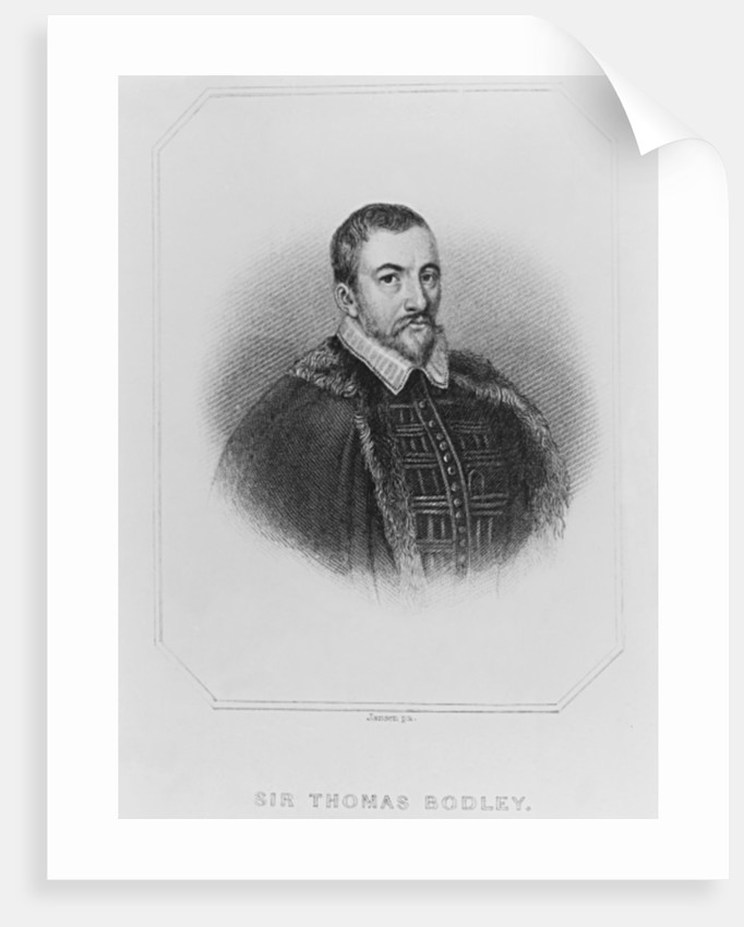 Portrait of Sir Thomas Bodley from 'Lodge's British Portraits' by English School