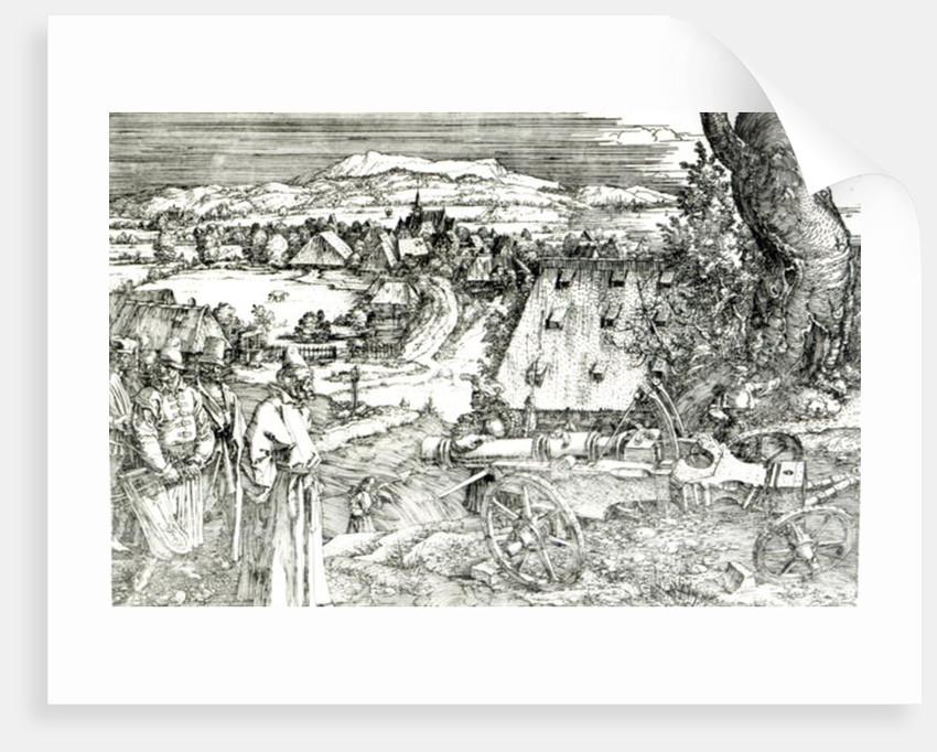 Landscape with Cannon by Albrecht Dürer or Duerer