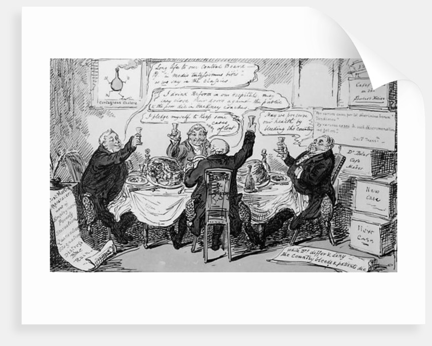 Cholera Consultation at The Central Board of Health by George Cruikshank