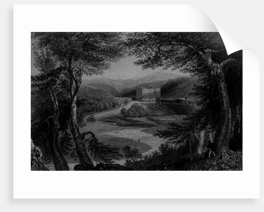 View of Drumlanrig Castle, Dumfrieshire by William Henry Bartlett