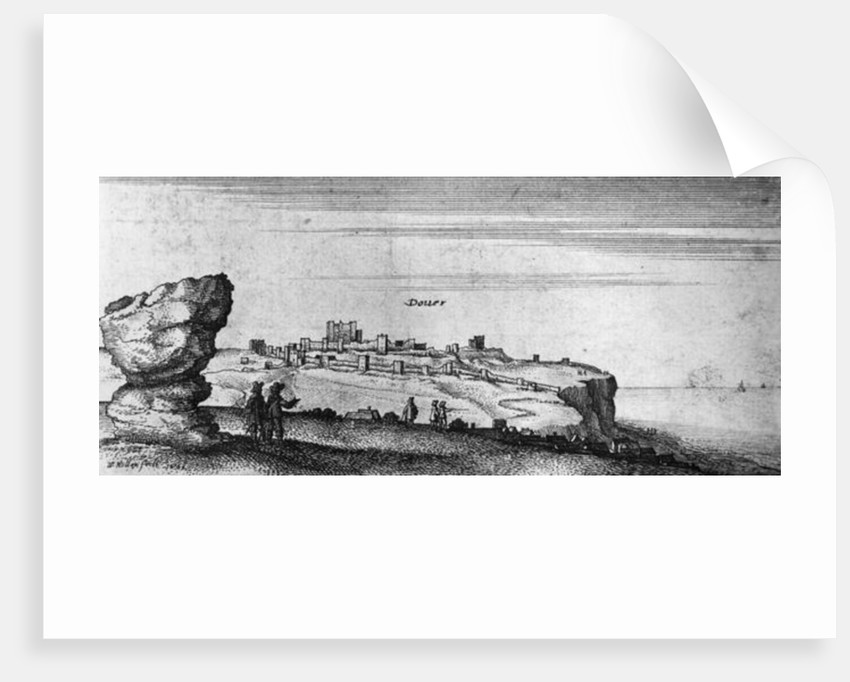 View of Dover Castle by English School