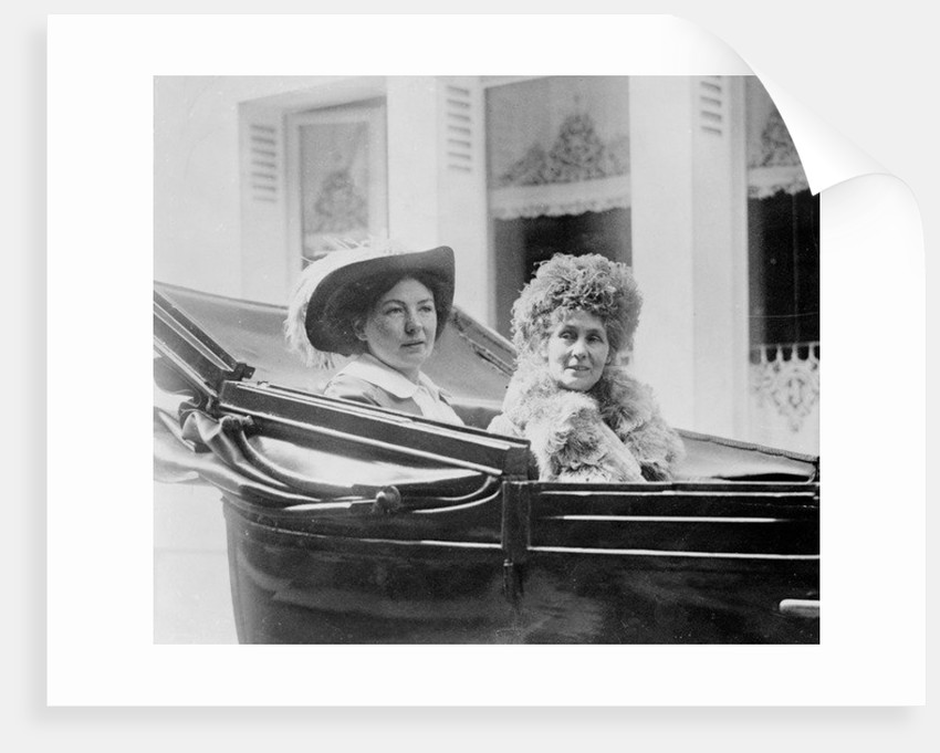 Christabel and her mother Emmeline Pankhurst in Paris by Anonymous
