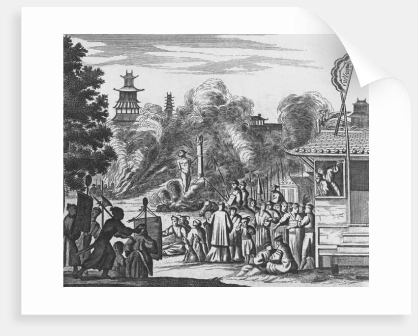 Jesuits with Dutch and Portuguese merchants at the Japanese court by Dutch School