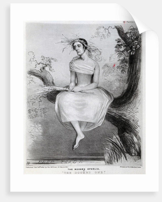 The modern Ophelia, or 'The Doomed one' by Richard Doyle