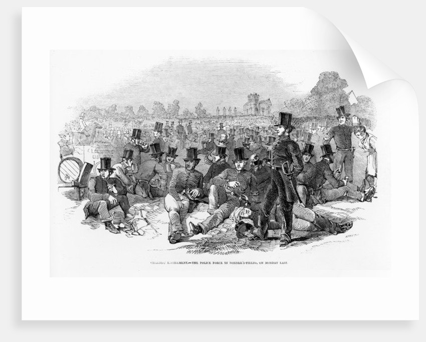 Chartist Excitement, the Police Force in Bonner's-Fields, on Monday Last by English School