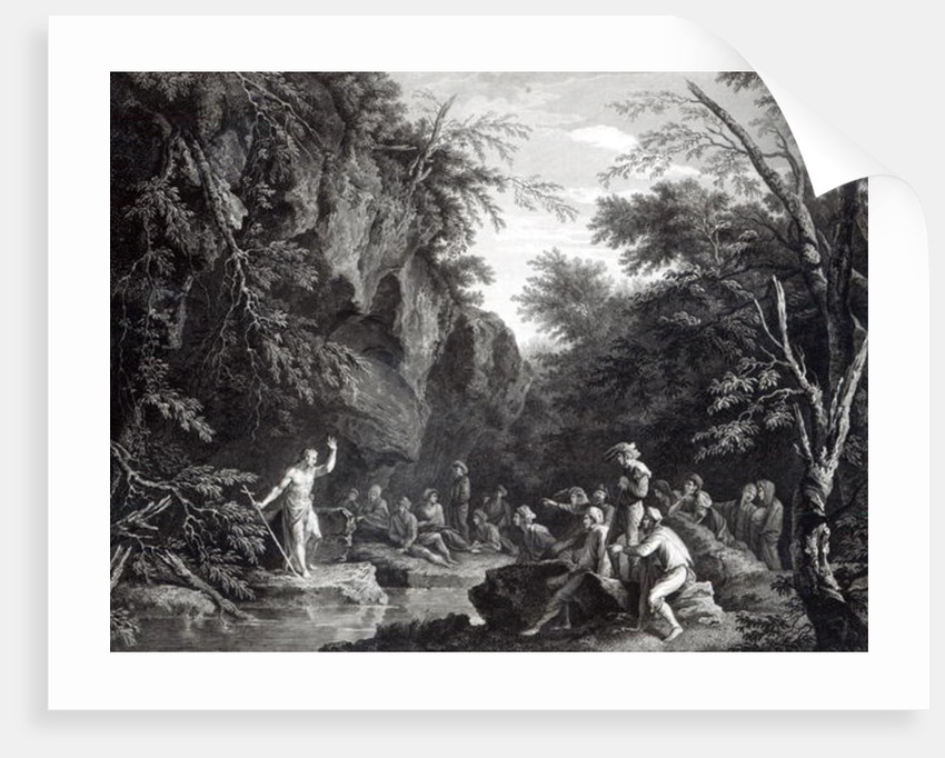 Saint John preaching in the Wilderness by Salvator Rosa