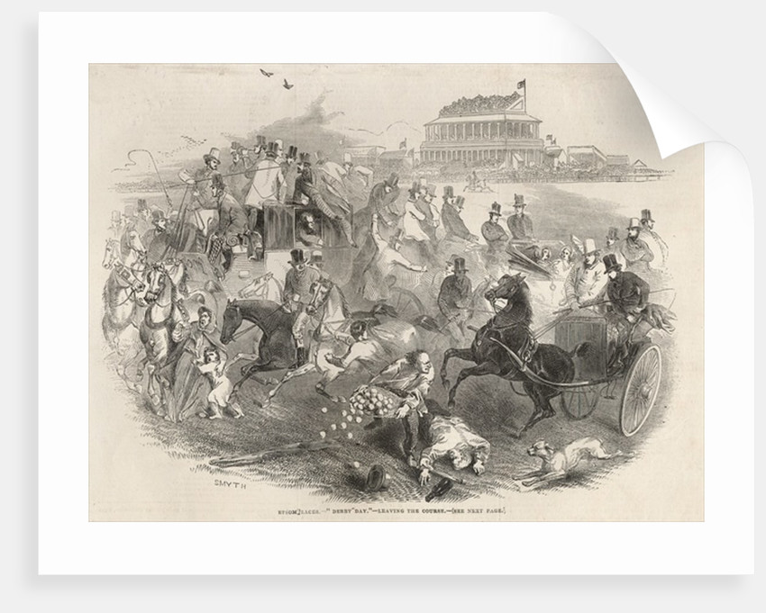 Epsom Races, 'Derby Day': Leaving the Course by English School