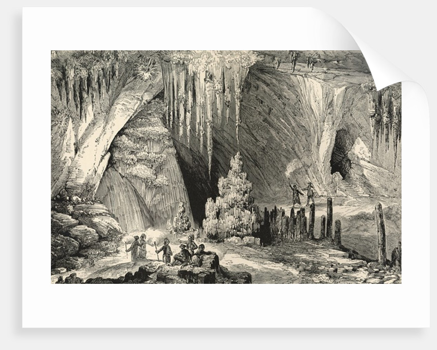 Interior of the Grotto of Antiparos by English School