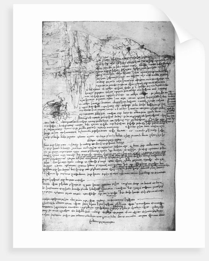 Page from Da Vinci's notebook by Leonardo da Vinci