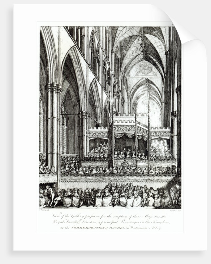 View of the Gallery by Edward Francis Burney