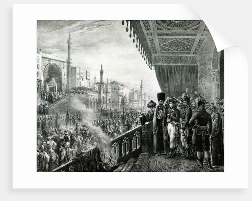 Napoleon Bonaparte Celebrating the Birthday of the Prophet Mohammed in Cairo, during his Egyptian Campaign by Alexandre Colin