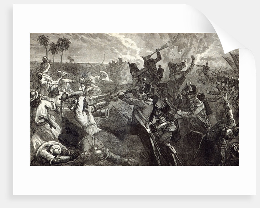 The Battle of Ferozeshah by English School