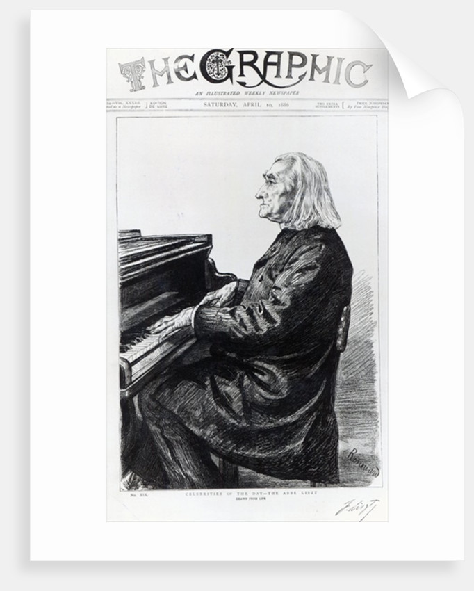 Franz Liszt, cover of 'The Graphic' by Charles Paul Renouard